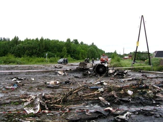 Ту-134 разбился в Петрозаводске