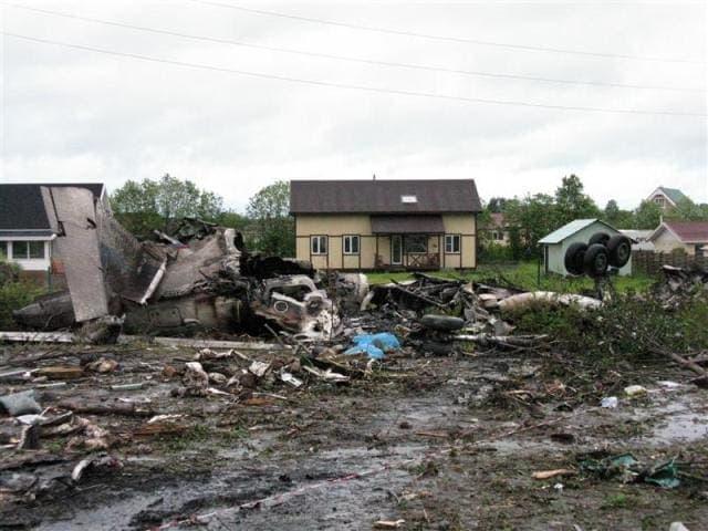 Ту-134 потерпел крушение в Петрозаводске