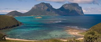 Pictures of North Bay from Mt Eliza on Lord Howe Island