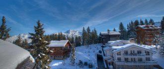 Популярынй в мире горнолыжный курорт Куршевель во Франции