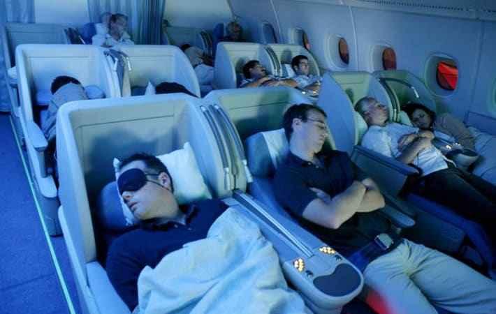 Спальные места в самолете