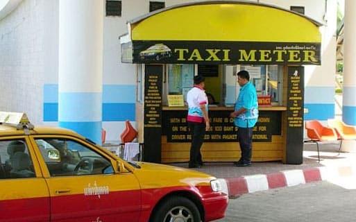 Такси в аэропорту на Пхукете (Тайланд)