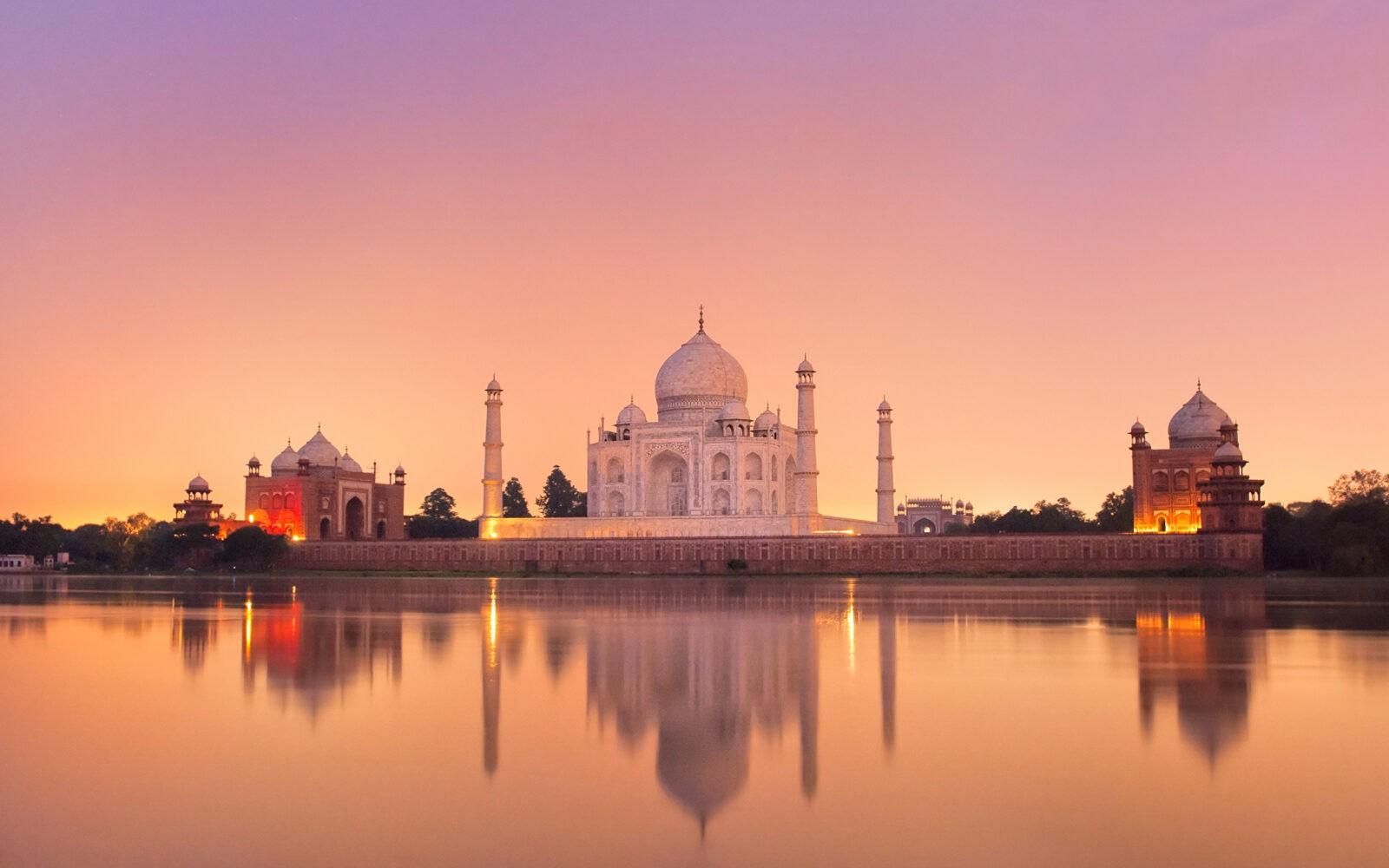 taj mahal india evening agra uttar pradesh 512710 2560x1600