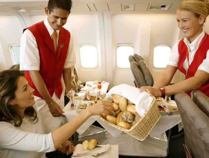 Питание на борту самолета